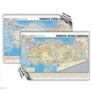Türkiye Siyasi-Türkiye Fiziki Çift taraflı (Duvar Haritası)
