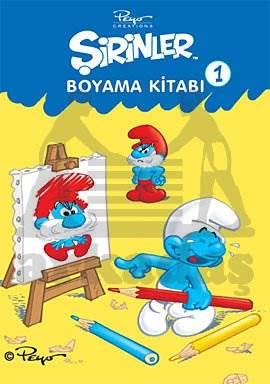 Şirinler boyama kitabı 1