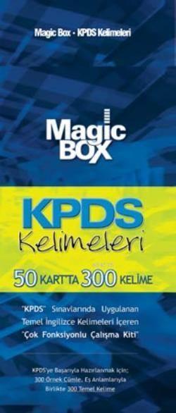 Magic Box KPDS Kelimeleri; 50 Kartta 300 Kelime