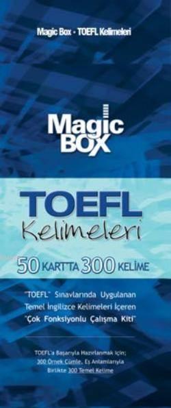 Magic Box TOEFL Kelimeleri; 50 Kartta 300 Kelime