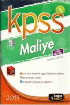 KPSS A Maliye Konu Anlatımlı 2013