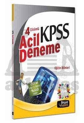 2013 KPSS 4 Çözümlü Acil Deneme - Eğitim Bilimleri