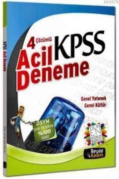 KPSS GK-GY Çözümlü 4 Acil Deneme