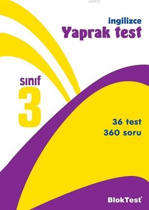 3.Sınıf Bloktest İngilizce Yaprak Test