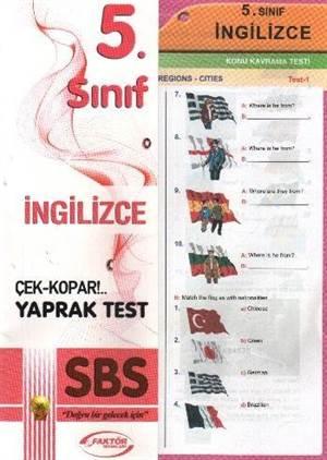 Yaprak Test İngilizce