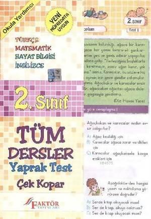 Faktör 2. Sınıf Tüm Dersler Yaprak Testler