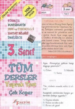 Faktör 3. Sınıf Tüm Dersler Yaprak Testler