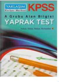 KPSS A Grubu Alan Bilgisi Yaprak Test