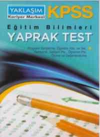 KPSS Eğitim Bilimleri Yaprak Testleri