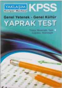 KPSS Genel Yetenek-Genel Kültür Yaprak Test