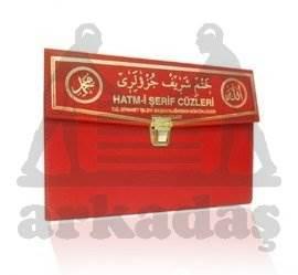Kur'an-ı Kerim 30 Cüz Hatim Seti (Orta Boy, Çantalı, Kırmızı Kapak, Kod: 101)