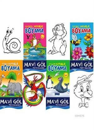 Hayvanlar Boyama (4 Kitap Takım)