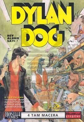 """Dylan Dog Dev Albüm Sayı: 7 """"Horror"""" Market Detektifin Kâbusu Üçüncü Göz Şafakta Düello"""