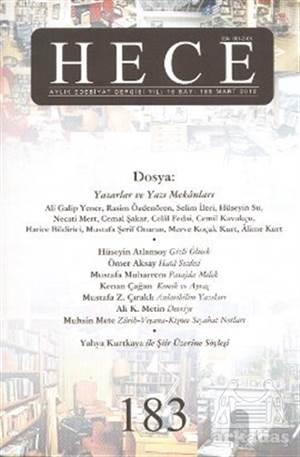 Hece Aylık Edebiyat Dergisi Sayı: 183