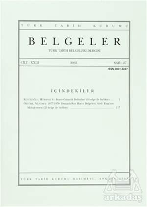 Türk Tarih Belgeleri Dergisi Cilt: 23 Sayı: 27