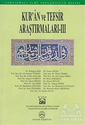 Kur'An Ve Tefsir Araştırmaları-3