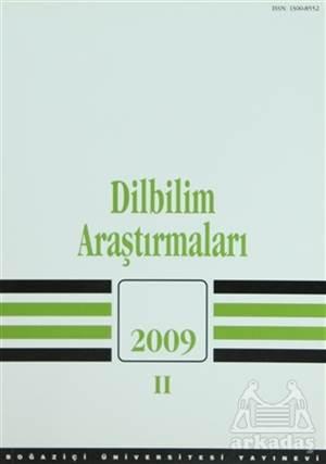 Dilbilim Araştırmaları 2009 / 2