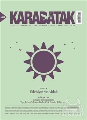 Karabatak Dergisi Sayı: 40 Eylül-Ekim 2018