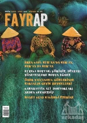 Fayrap Popülist Edebiyat Dergisi Sayı: 113 Ekim 2018