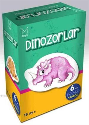 Bebek Yapboz - Dinozorlar (18+ Ay - 6 Yapboz)