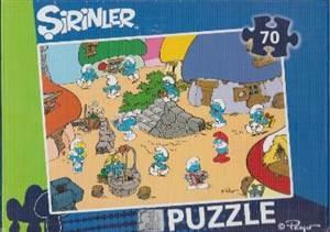Şirinler 70 Parça<br/>Kutu Puzzle