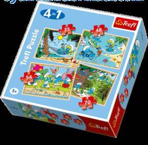 Şirinler 4 in 1 <br/>Puzzle