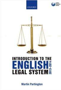 Intro Eng Legal System 2010-2011 5E P Mpg: Ag