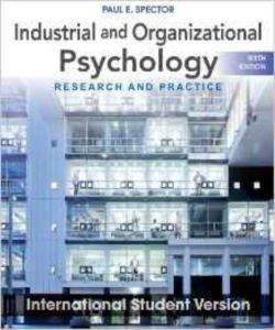 Industrial Psychology 6E ISV W ...