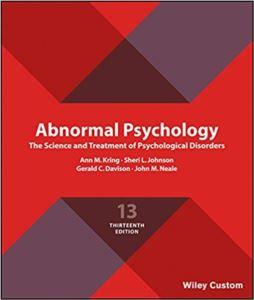 Abnormal Psychology <br/>12E