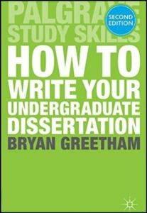How to Write Your Undergraduate Dessertation