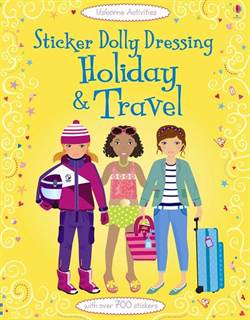 Sticker Dolly Dressing Holiday and Travel