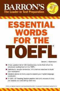 Barron's Essential Words For The TOEFL (6Th Ed)