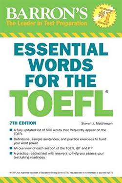 Barron's Essential Words For The TOEFL (7Th Ed)