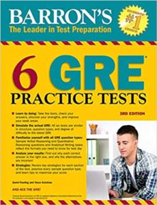 Barron's 6 GRE Practice Tests (3Rd Ed.)