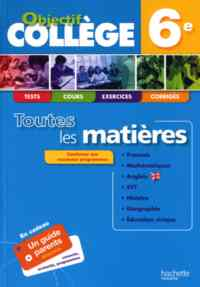 Objectif College 6 Toutes Matieres