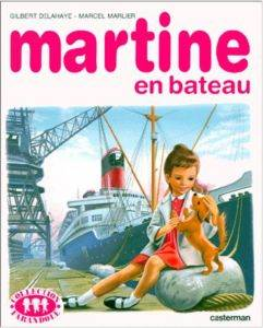 Martine en batau