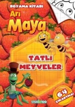 Arı Maya Tatlı Meyveler Boyama Kitabı