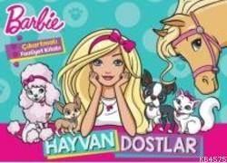Barbie Hayvan Dostlarım Çıkartmalı Boyama Kitabı
