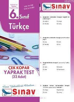 6. Sınıf Türkçe Yaprak Test; 32 Adet Yaprak Test