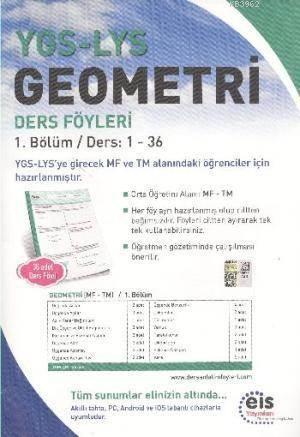 YGS LYS Geometri; Ders Föyleri MF TM 1.Bölüm Ders: 1 - 36