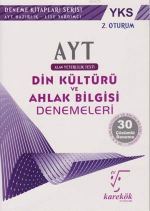 AYT Din Kültürü Ve Ahlak Bilgisi Denemeleri 2. Oturum