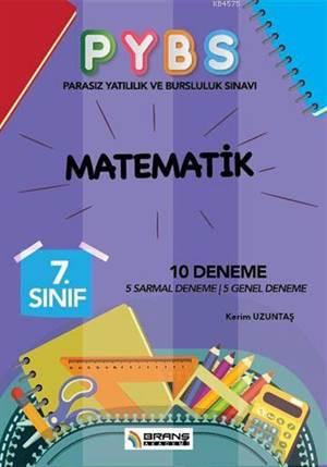 7. Sınıf PYBS Matematik 10 Deneme; 5 Sarmal Deneme - 5 Genel Deneme