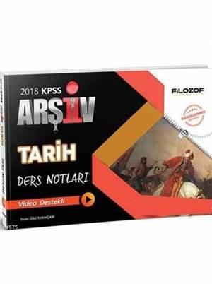 2018 KPSS Tarih Arşiv Ders Notları