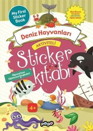 Aktiviteli Sticker Kitabı; Deniz Hayvanları