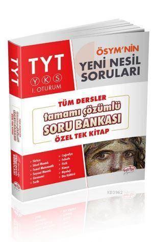 YKS TYT 1. Oturum Tüm Dersler Çözümlü Soru Bankası