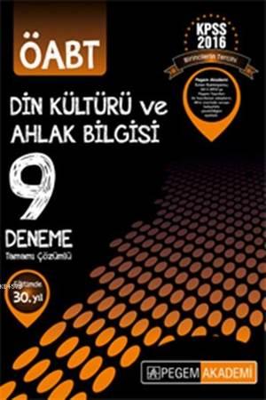 KPSS 2016 ÖABT Din Kültürü ve Ahlak Bilgisi 9 Deneme; Tamamı Çözümlü