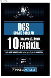 DGS Hazırlık Tamamı Çözümlü Çıkmış Sorular (2006-2016)