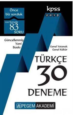 KPSS Türkçe 30 Den ...