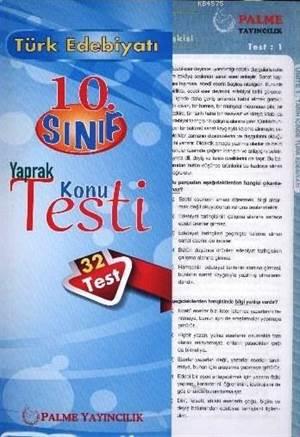 10. Sınıf Türk Edebiyatı Yaprak Konu Testi