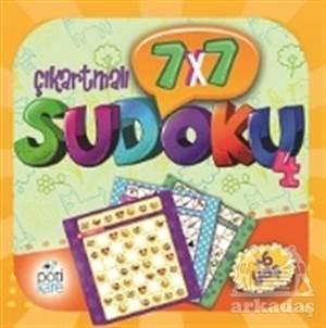 7X7 Çıkartmalı Sudoku - 4 (Çıkartmalı)